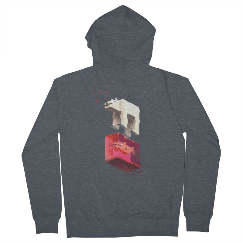 Lunch Men's French Terry Zip-Up Hoody by ZWOONT!