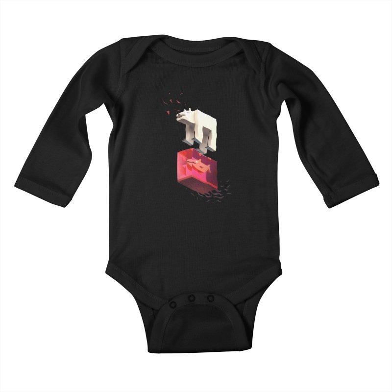 Lunch Kids Baby Longsleeve Bodysuit by ZWOONT!