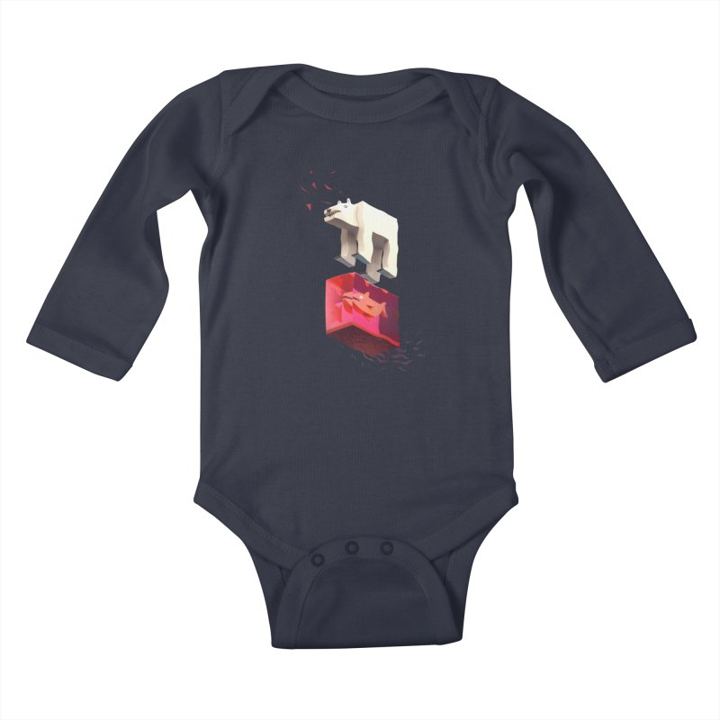 Lunch Kids Baby Longsleeve Bodysuit by ZWOONT!