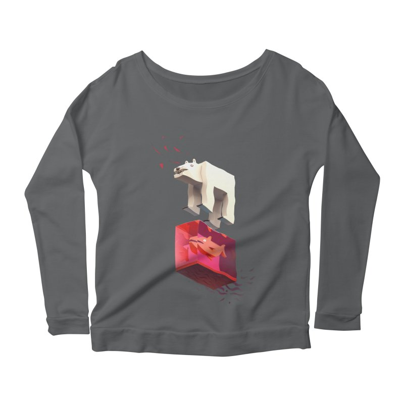 Lunch Women's Longsleeve Scoopneck  by ZWOONT!