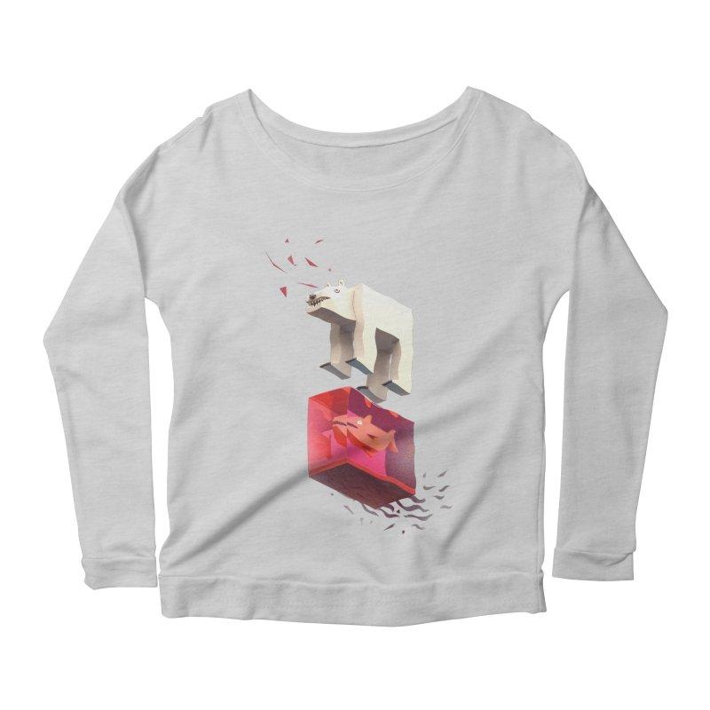 Lunch Women's Scoop Neck Longsleeve T-Shirt by ZWOONT!