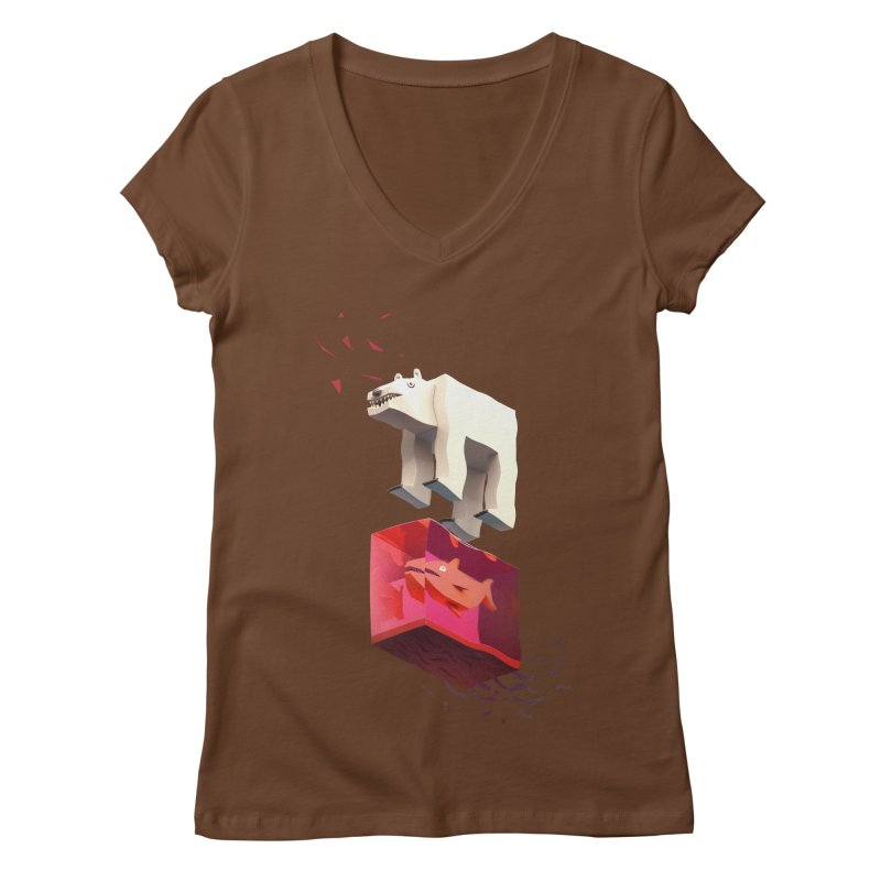Lunch Women's V-Neck by ZWOONT!