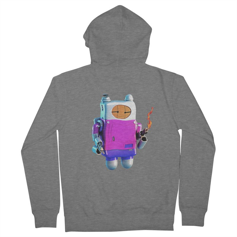 Cutebot Men's French Terry Zip-Up Hoody by ZWOONT!