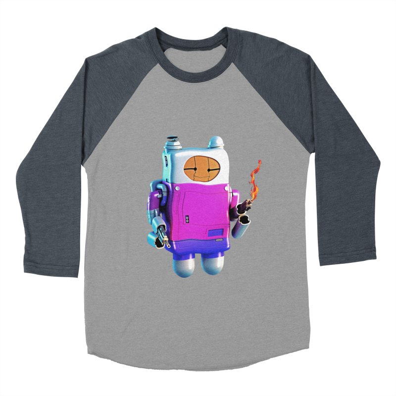 Cutebot Men's Baseball Triblend Longsleeve T-Shirt by ZWOONT!
