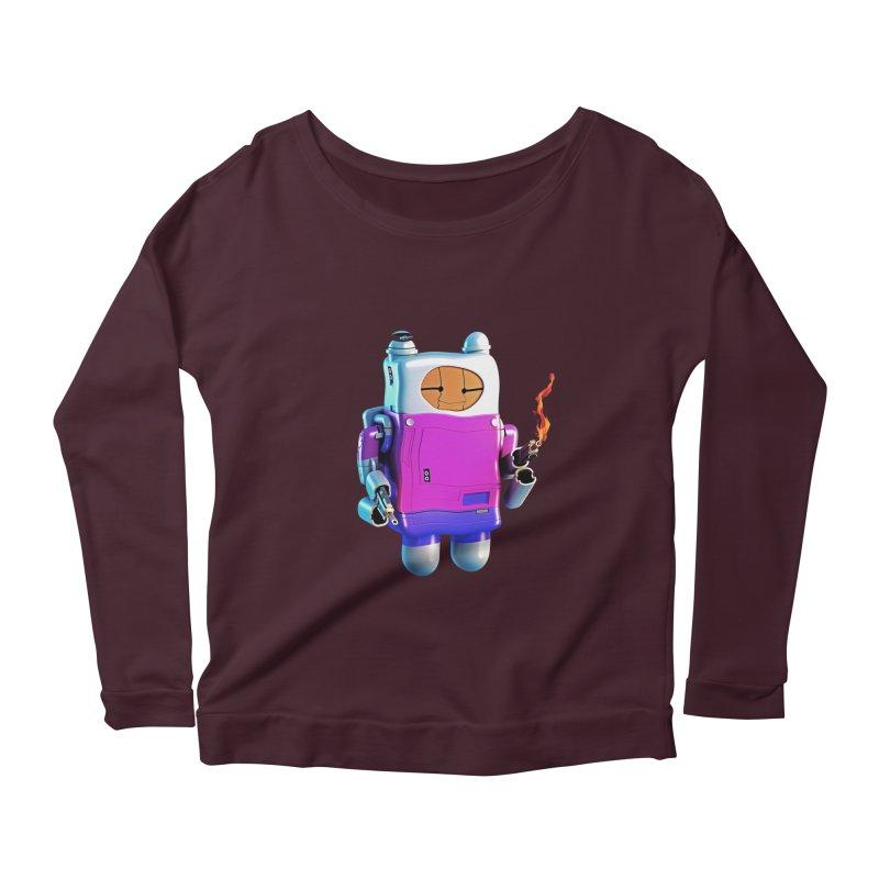 Cutebot Women's Scoop Neck Longsleeve T-Shirt by ZWOONT!