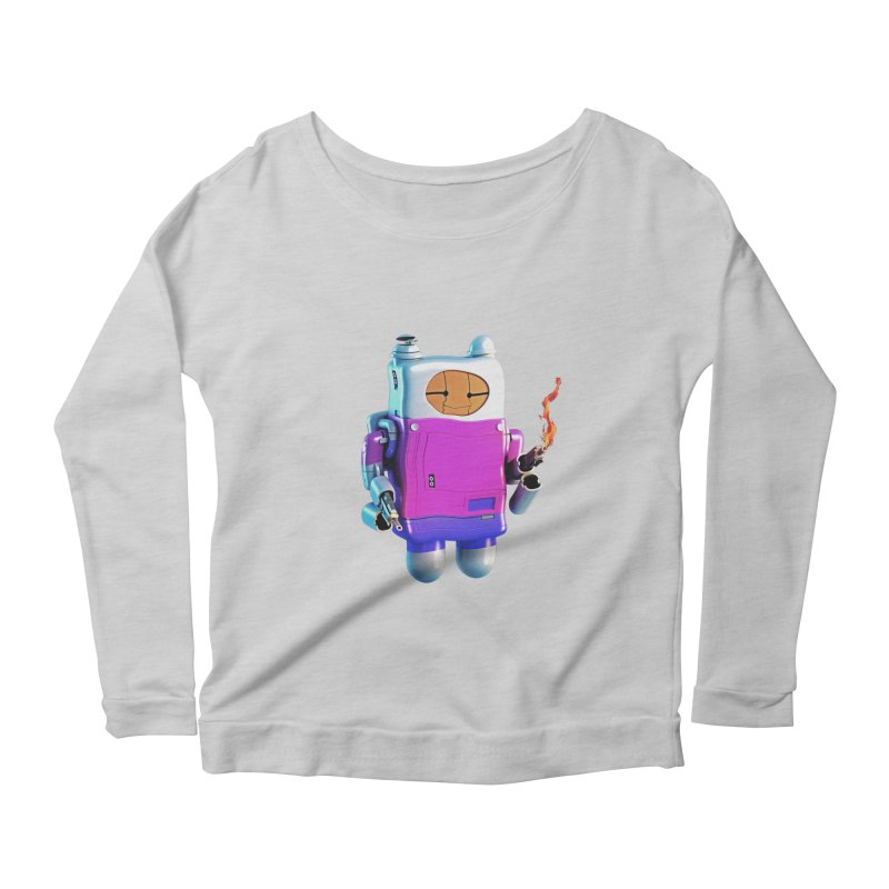 Cutebot Women's Longsleeve Scoopneck  by ZWOONT!