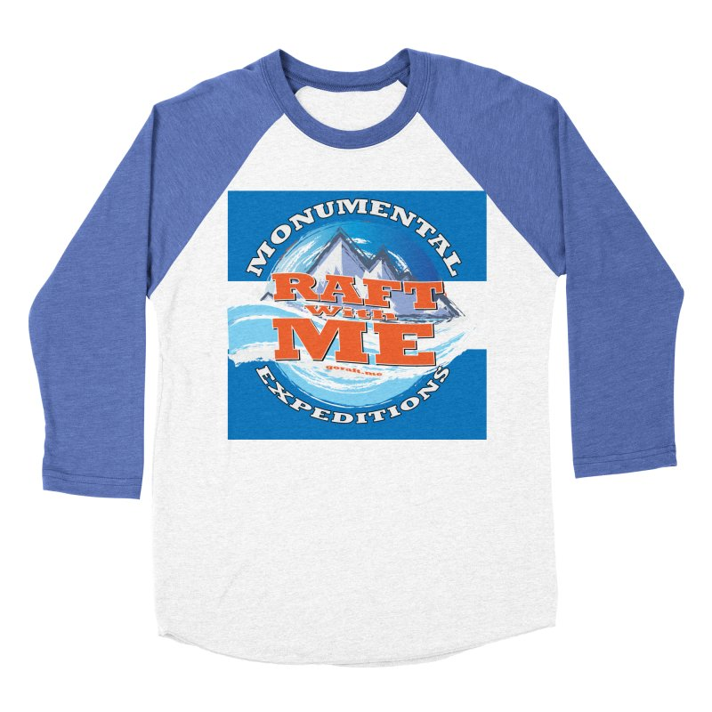 Raft with ME Men's Baseball Triblend Longsleeve T-Shirt by Monumental Expeditions