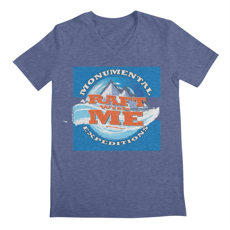 Raft with ME Men's Regular V-Neck by Monumental Expeditions