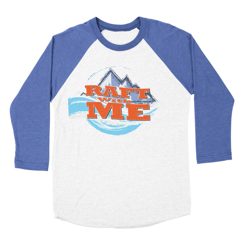 Raft with ME II Men's Baseball Triblend Longsleeve T-Shirt by Monumental Expeditions