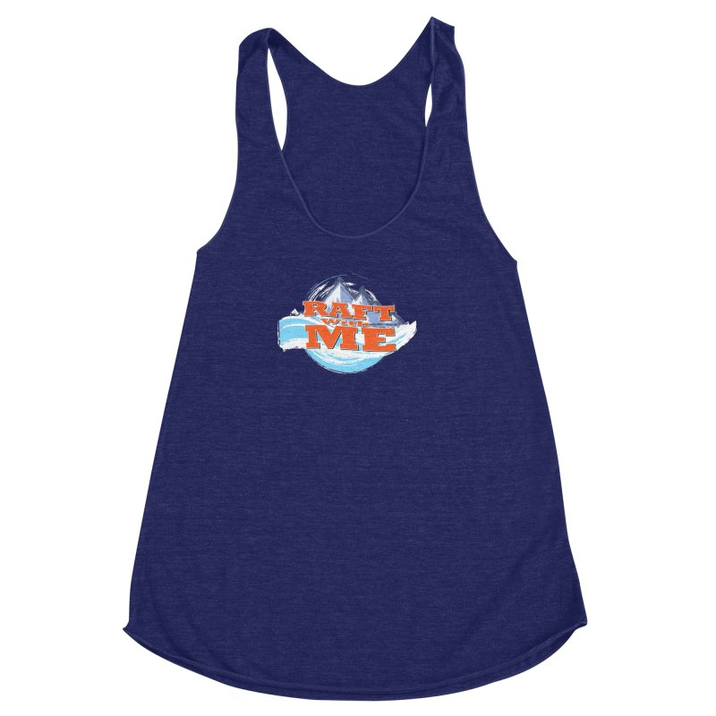 Raft with ME II Women's Racerback Triblend Tank by Monumental Expeditions