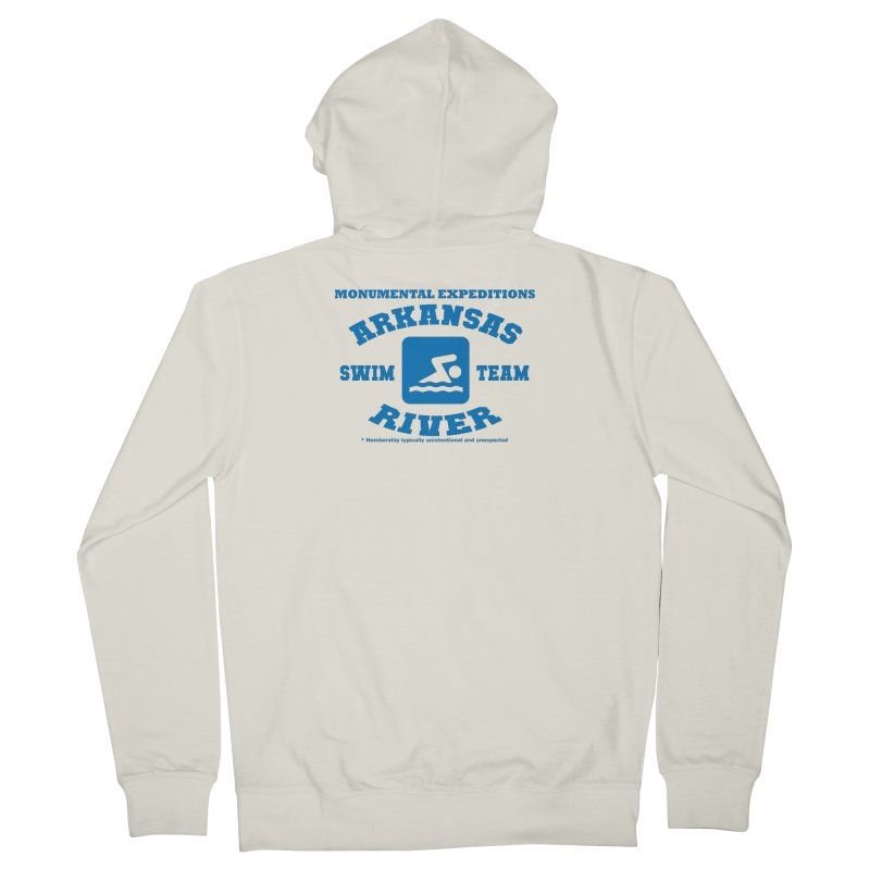 Arkansas River Swim Team Men's French Terry Zip-Up Hoody by Monumental Expeditions