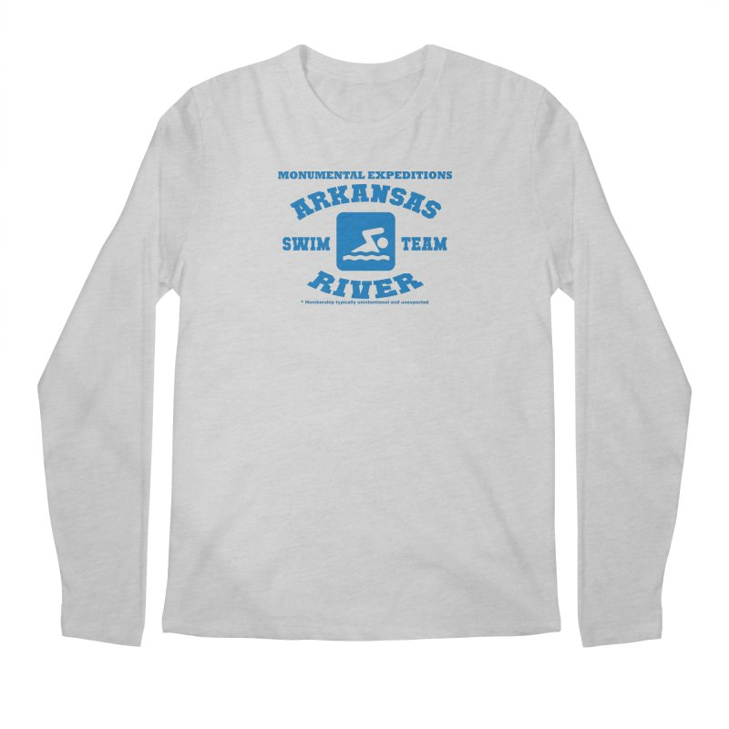 Arkansas River Swim Team Men's Regular Longsleeve T-Shirt by Monumental Expeditions