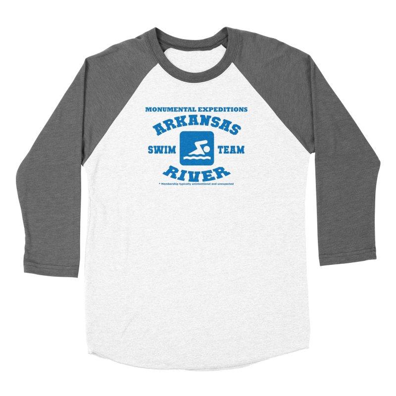 Arkansas River Swim Team Women's Baseball Triblend Longsleeve T-Shirt by Monumental Expeditions