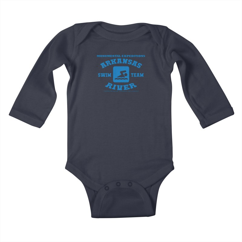 Arkansas River Swim Team Kids Baby Longsleeve Bodysuit by Monumental Expeditions