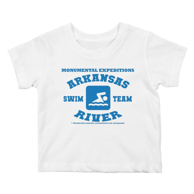 Arkansas River Swim Team Kids Baby T-Shirt by Monumental Expeditions