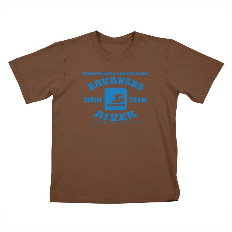 Arkansas River Swim Team Kids T-Shirt by Monumental Expeditions