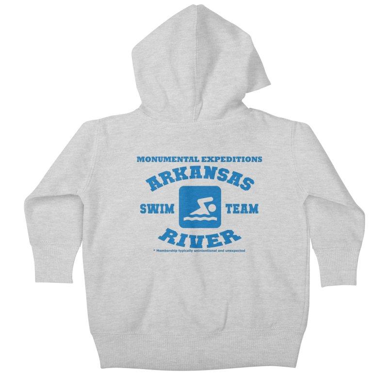 Arkansas River Swim Team Kids Baby Zip-Up Hoody by Monumental Expeditions