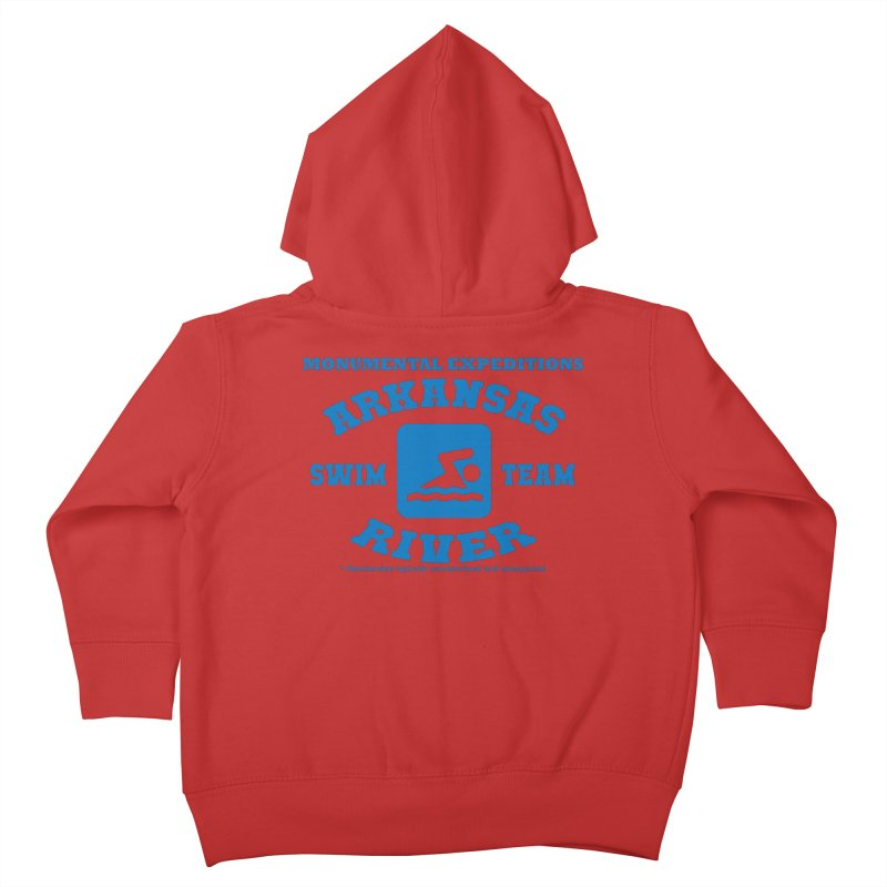 Arkansas River Swim Team Kids Toddler Zip-Up Hoody by Monumental Expeditions