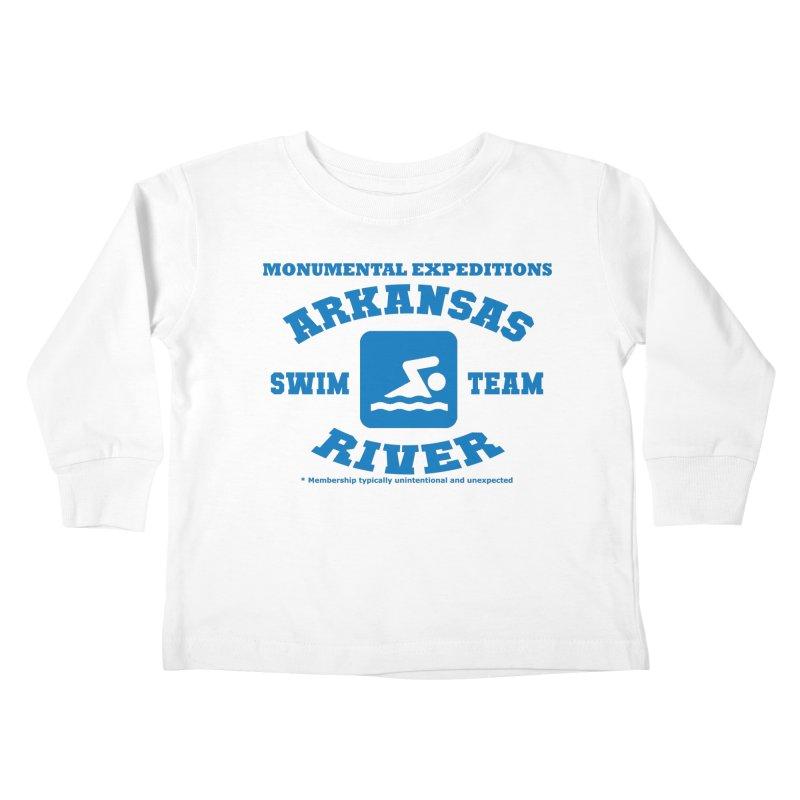 Arkansas River Swim Team Kids Toddler Longsleeve T-Shirt by Monumental Expeditions