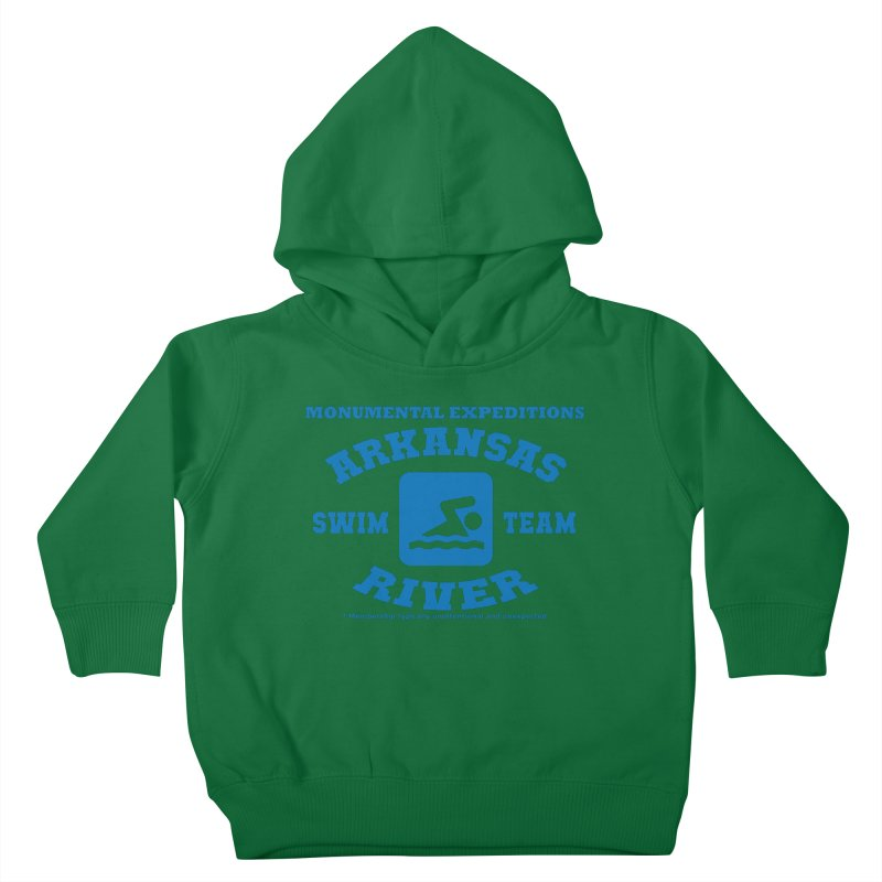 Arkansas River Swim Team Kids Toddler Pullover Hoody by Monumental Expeditions