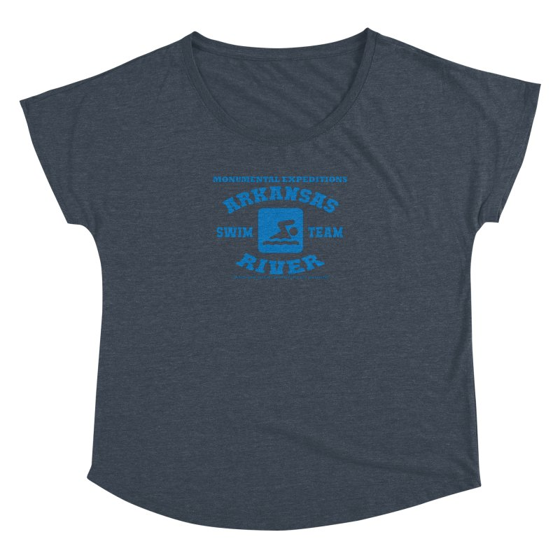 Arkansas River Swim Team Women's Dolman Scoop Neck by Monumental Expeditions
