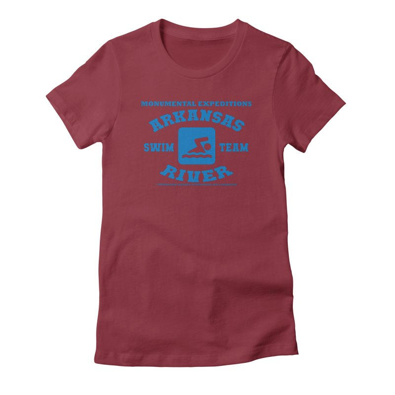 Arkansas River Swim Team Women's Fitted T-Shirt by Monumental Expeditions