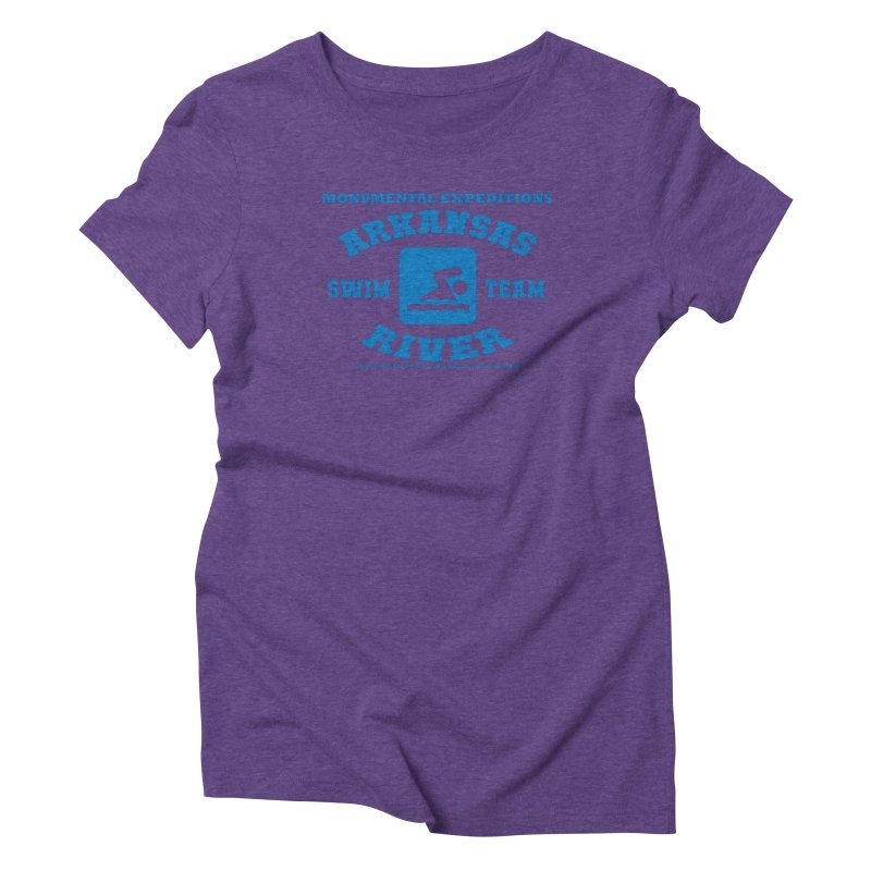 Arkansas River Swim Team Women's Triblend T-Shirt by Monumental Expeditions