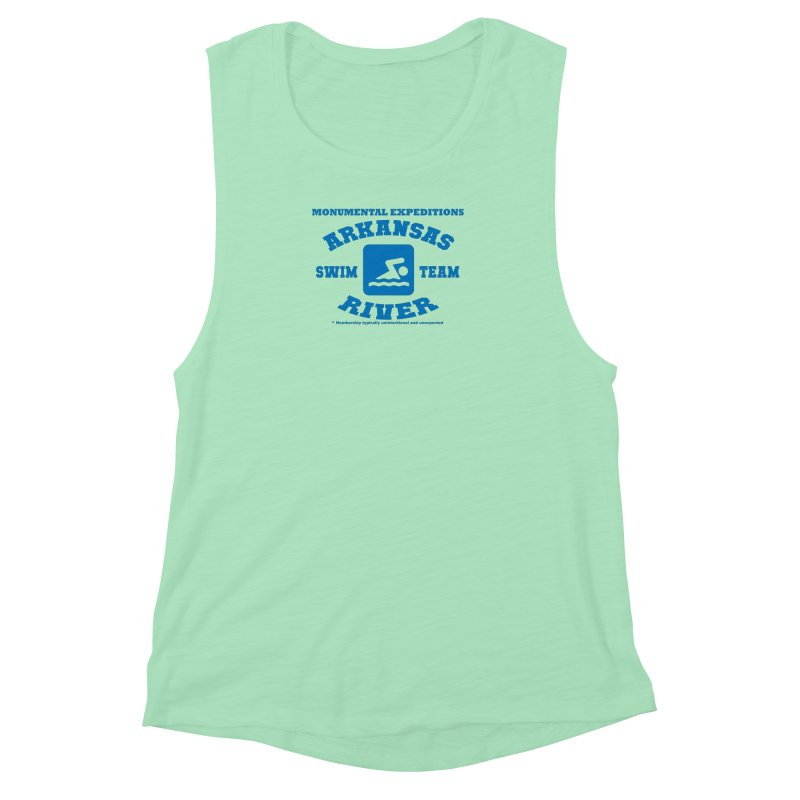 Arkansas River Swim Team Women's Muscle Tank by Monumental Expeditions