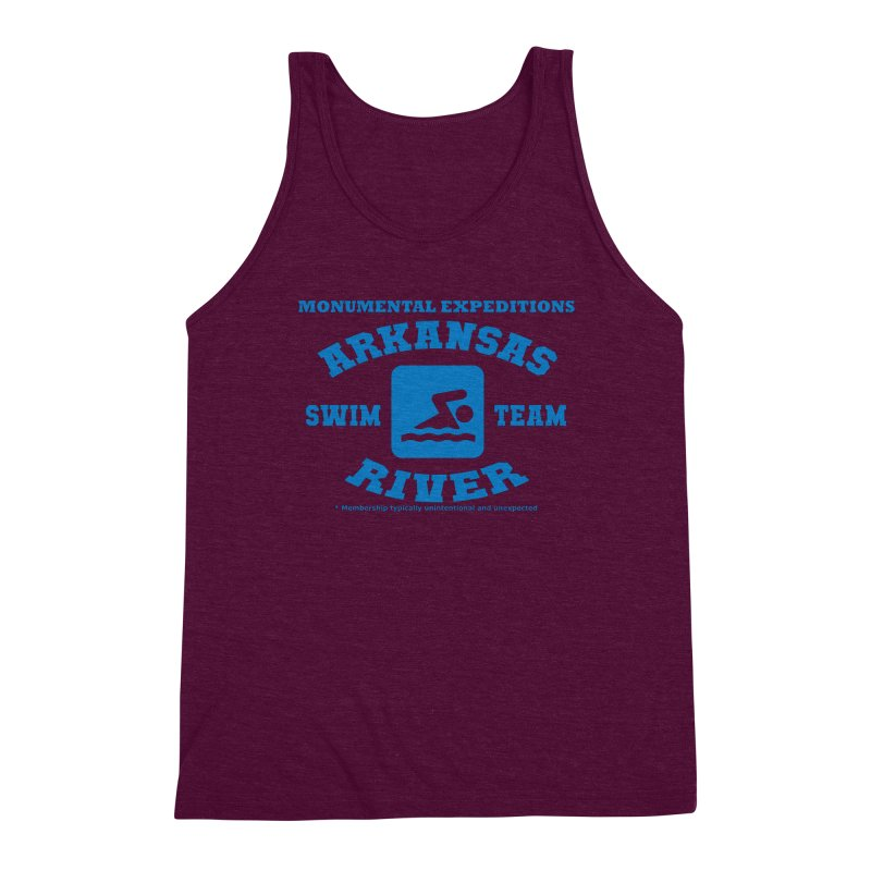 Arkansas River Swim Team Men's Triblend Tank by Monumental Expeditions