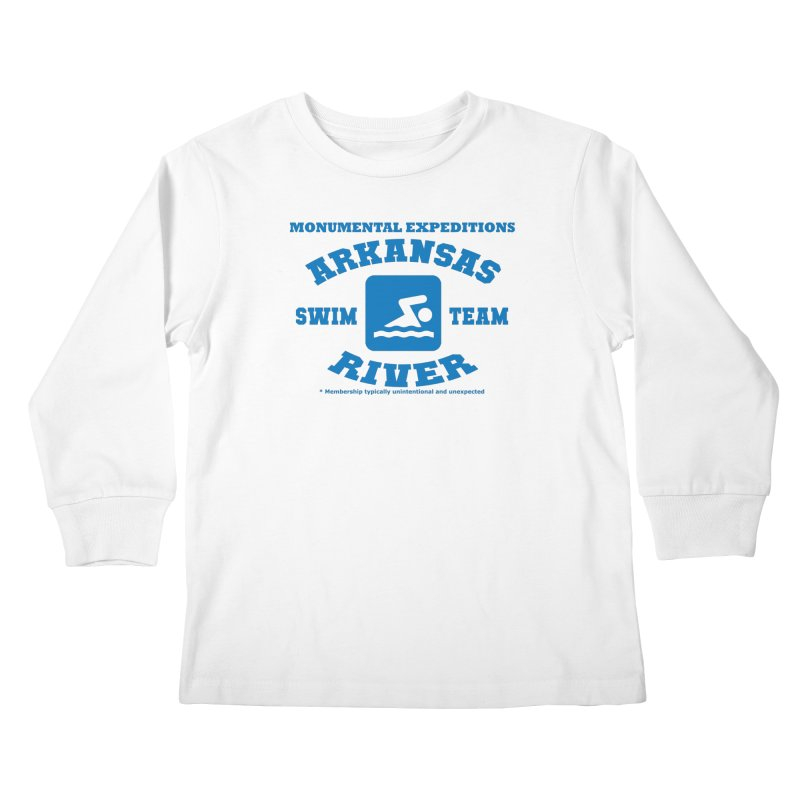 Arkansas River Swim Team Kids Longsleeve T-Shirt by Monumental Expeditions