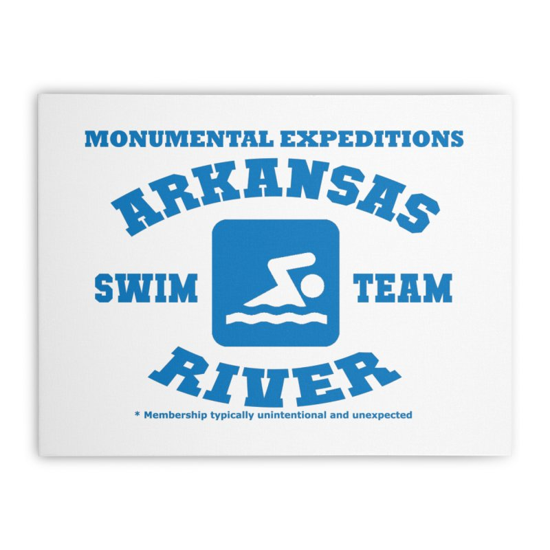 Arkansas River Swim Team Home Stretched Canvas by Monumental Expeditions