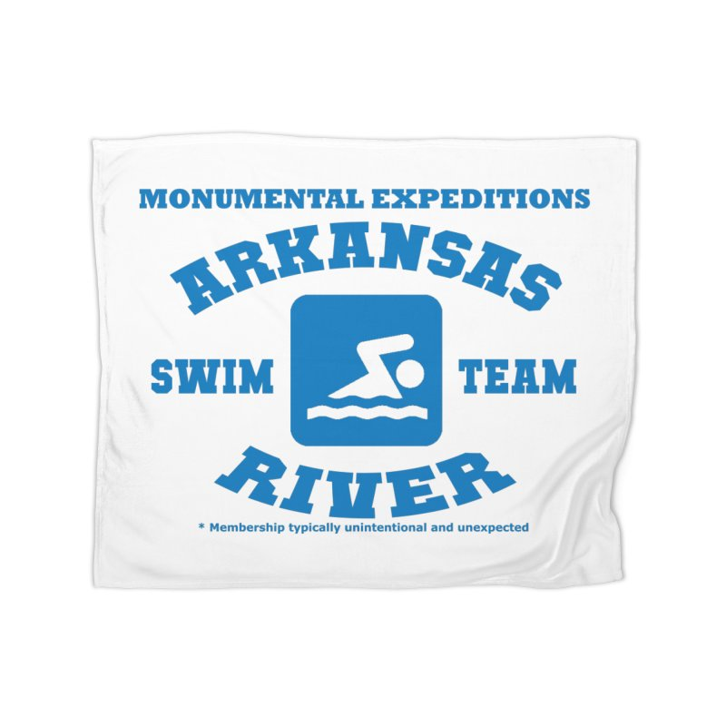 Arkansas River Swim Team Home Blanket by Monumental Expeditions