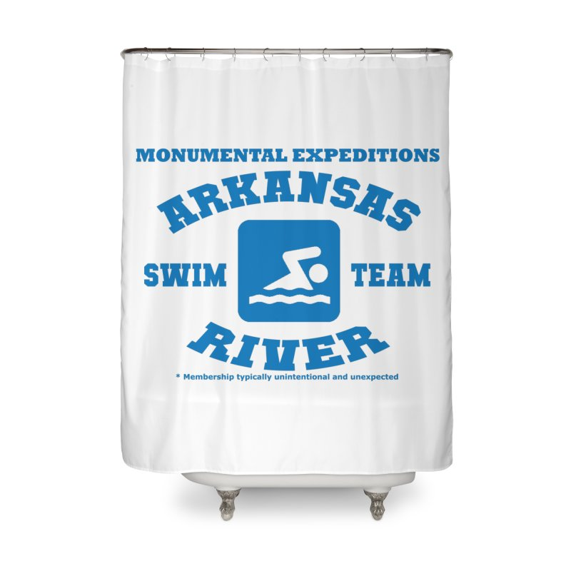 Arkansas River Swim Team Home Shower Curtain by Monumental Expeditions