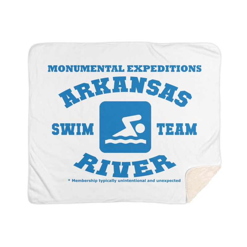 Arkansas River Swim Team Home Sherpa Blanket Blanket by Monumental Expeditions