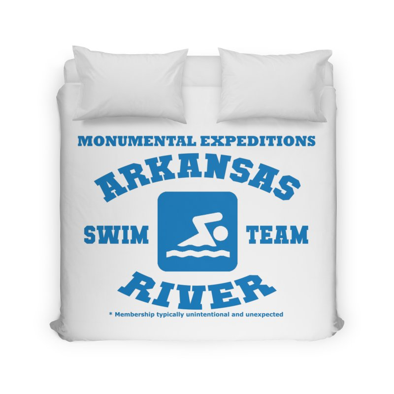 Arkansas River Swim Team Home Duvet by Monumental Expeditions