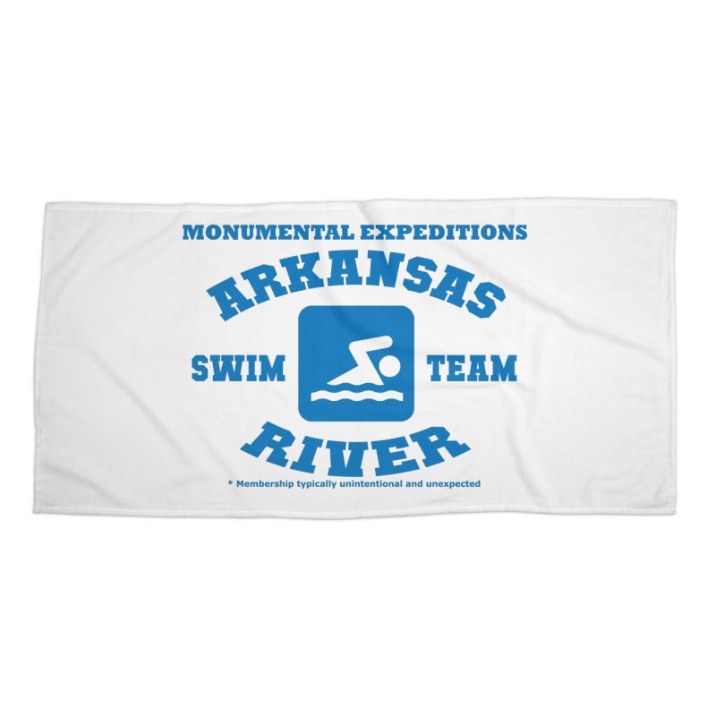 Arkansas River Swim Team Accessories Beach Towel by Monumental Expeditions