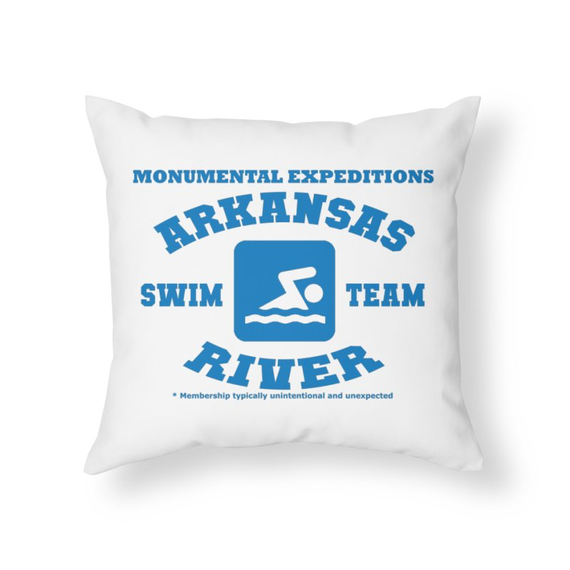Arkansas River Swim Team Home Throw Pillow by Monumental Expeditions