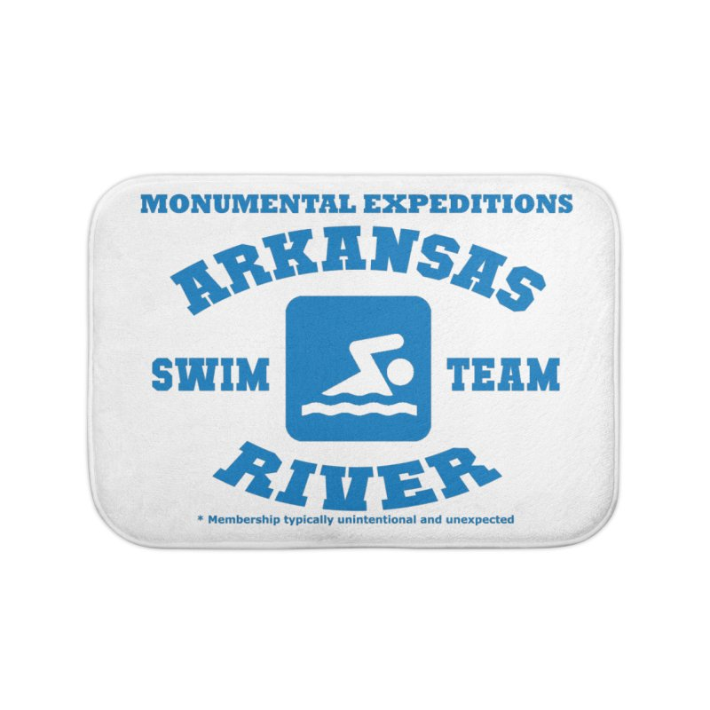 Arkansas River Swim Team Home Bath Mat by Monumental Expeditions