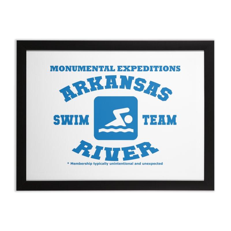 Arkansas River Swim Team Home Framed Fine Art Print by Monumental Expeditions