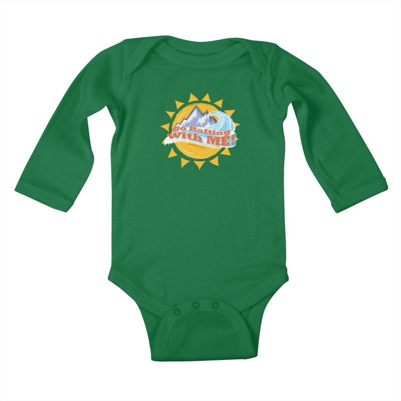 Go Rafting With ME! Kids Baby Longsleeve Bodysuit by Monumental Expeditions