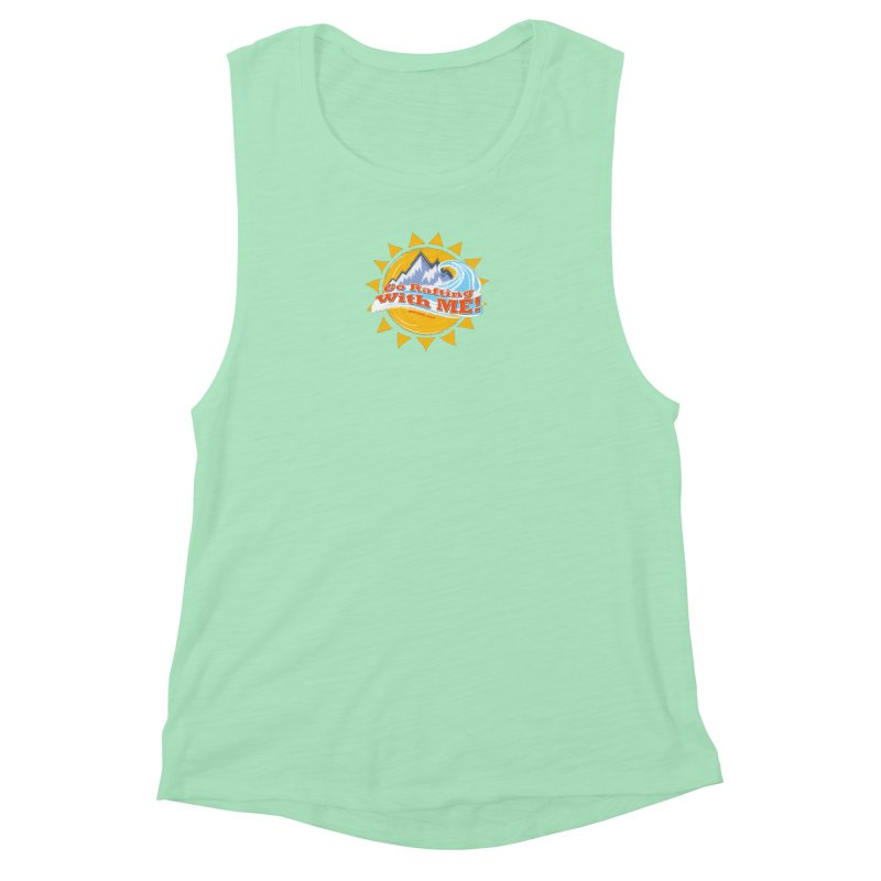 Go Rafting With ME! Women's Muscle Tank by Monumental Expeditions