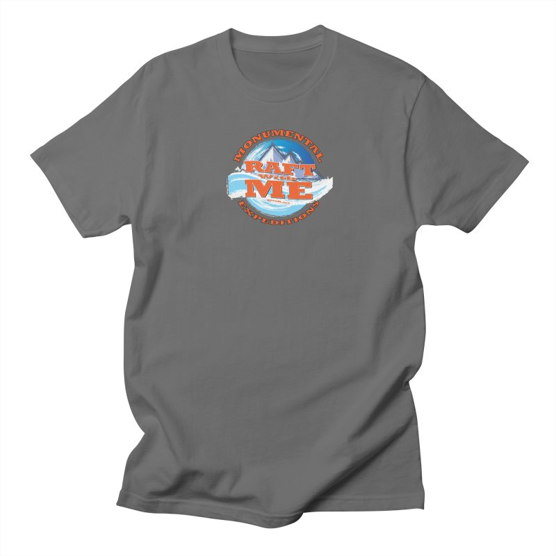 Raft With ME - Orange text Men's Regular T-Shirt by Monumental Expeditions