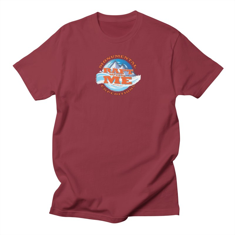 Raft With ME - Orange text Women's Regular Unisex T-Shirt by Monumental Expeditions