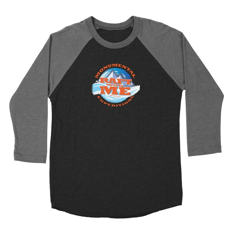 Raft With ME - Orange text Women's Baseball Triblend Longsleeve T-Shirt by Monumental Expeditions