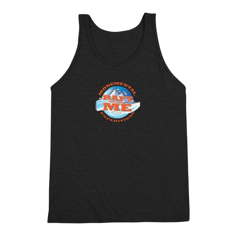 Raft With ME - Orange text Men's Triblend Tank by Monumental Expeditions