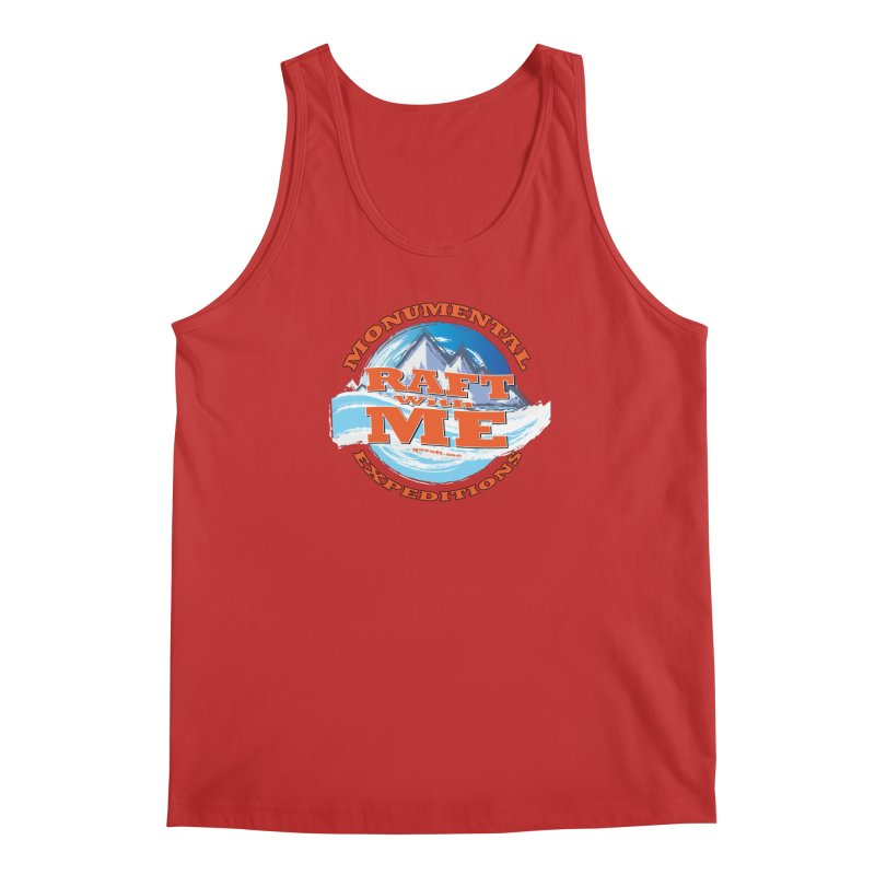 Raft With ME - Orange text Men's Regular Tank by Monumental Expeditions