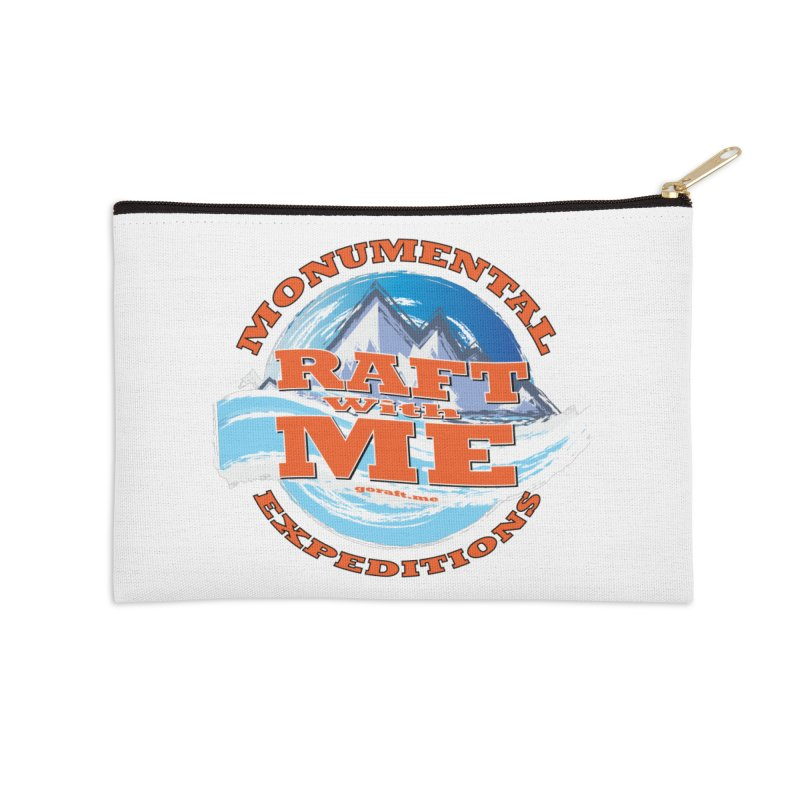 Raft With ME - Orange text Accessories Zip Pouch by Monumental Expeditions