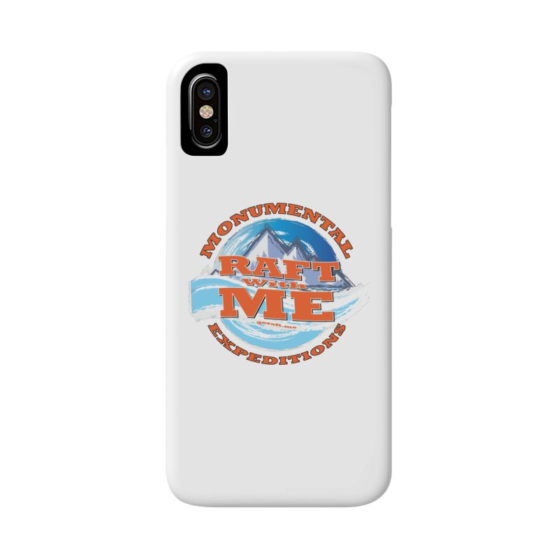 Raft With ME - Orange text Accessories Phone Case by Monumental Expeditions