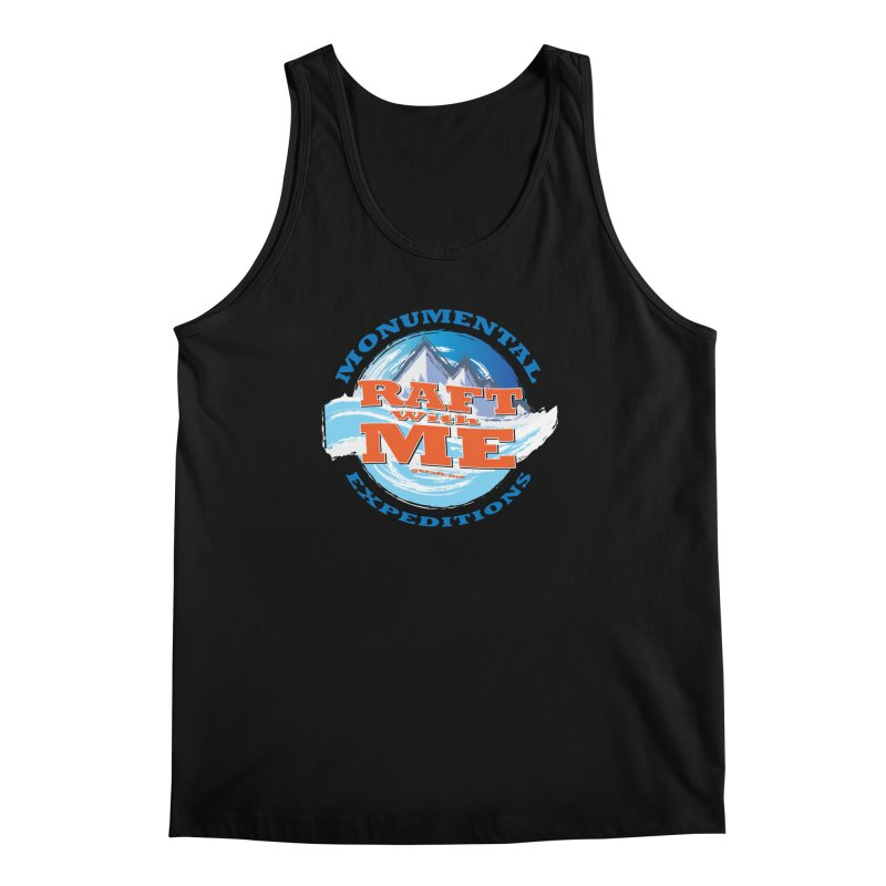 Raft With ME - blue text Men's Regular Tank by Monumental Expeditions