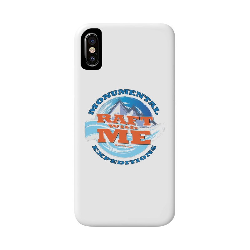 Raft With ME - blue text Accessories Phone Case by Monumental Expeditions
